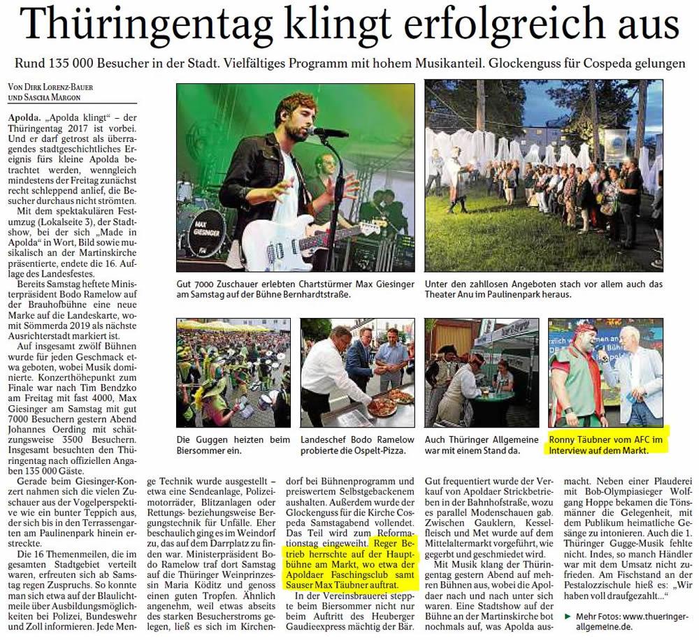 Pressebericht TA-12.6.2017 - TT
